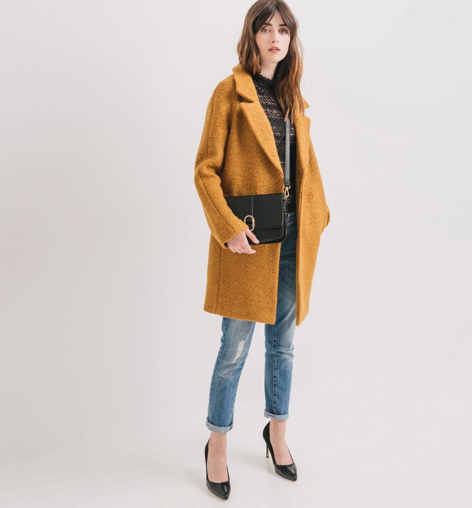 Promod cappotto lana giallo € 89,95