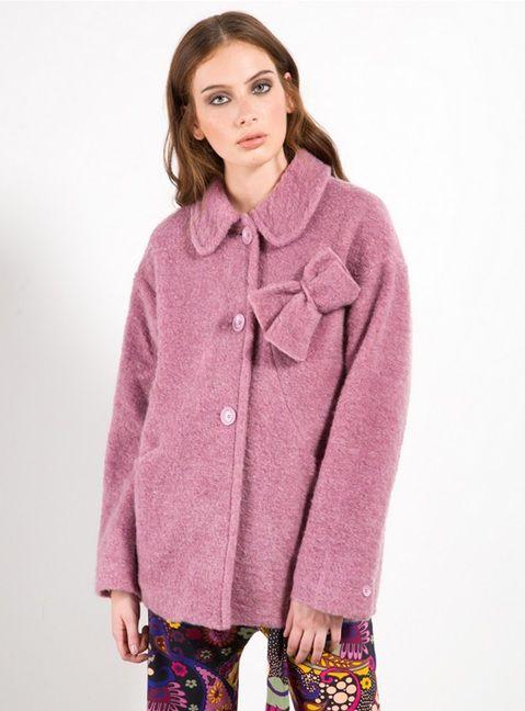 Cappotto rosa Fornarina
