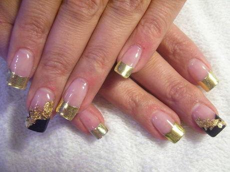 Nail art french oro
