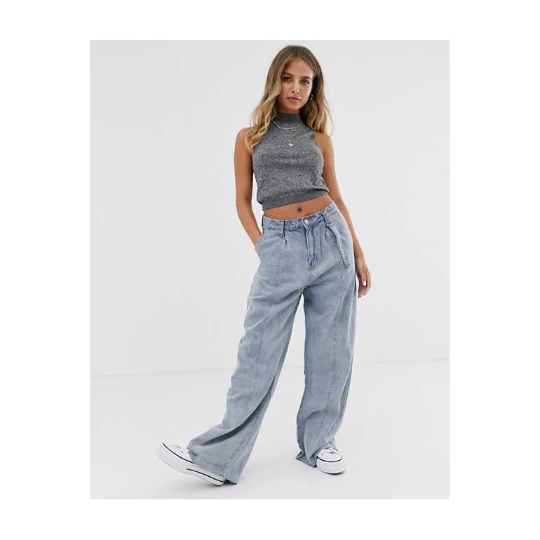 Emory Park - Mom jeans vintage con fondo grezzo
