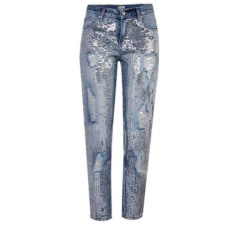 Jeans con foro strappato OneForus