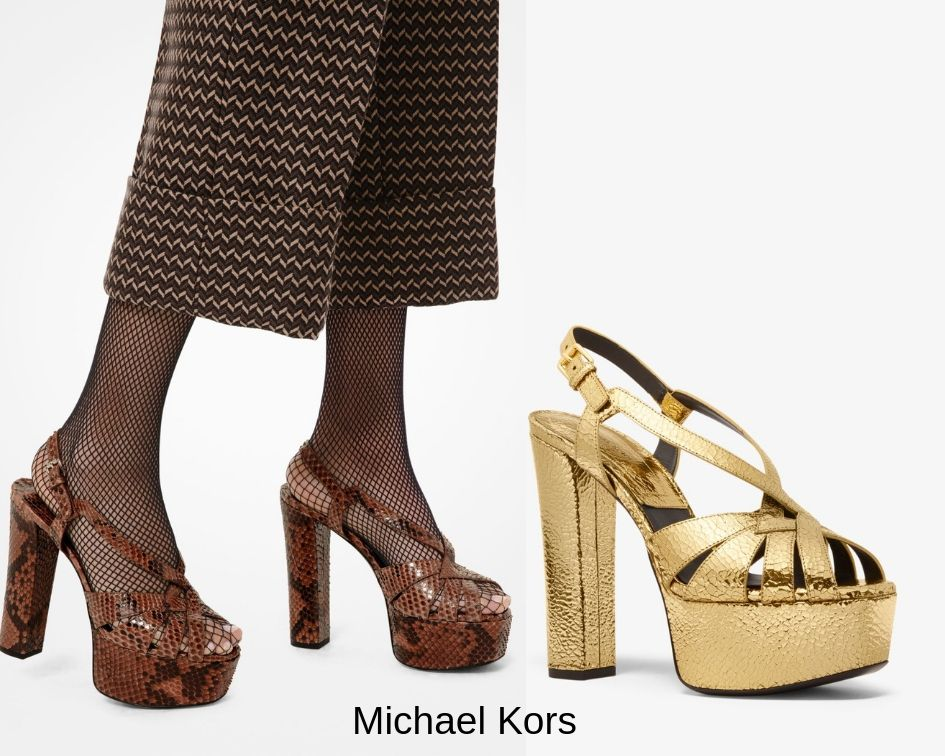 Scarpe con plateau Michael kors