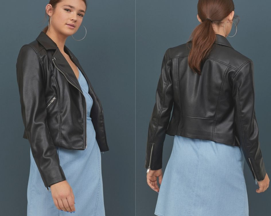 Giacca Biker Donna di pelle H&M