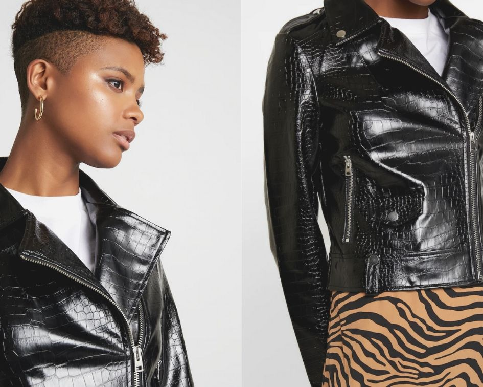 Giacca Biker Donna di pelle by Topshop