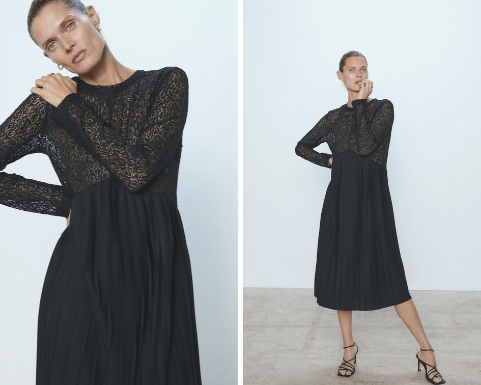Zara Stay Minimal  abito nero