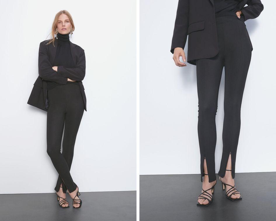 Zara Stay Minimal  leggins neri