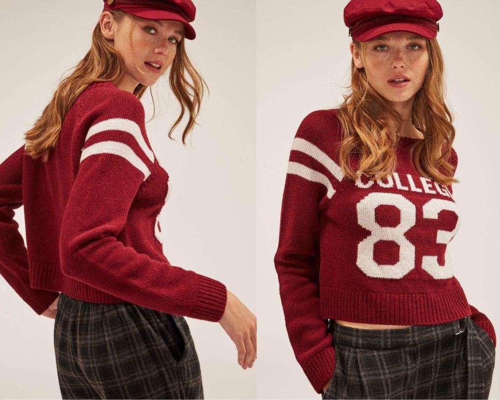 Terranova propone un pullover crop rosso
