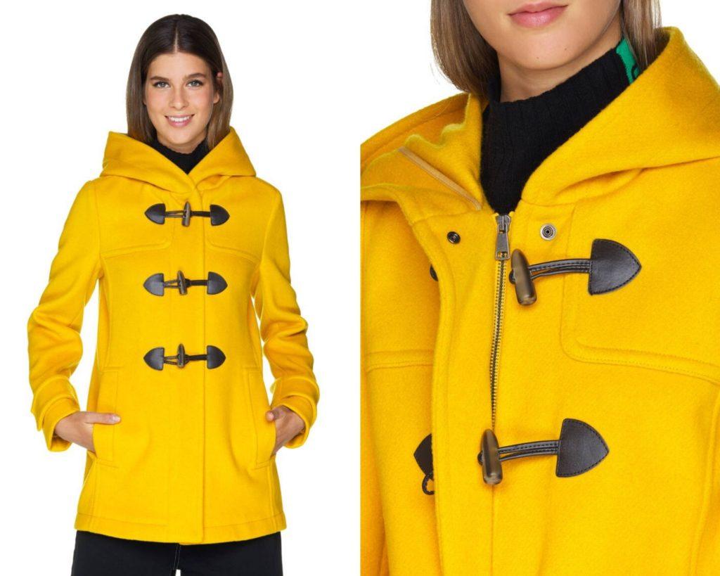 Cappotto corto giallo