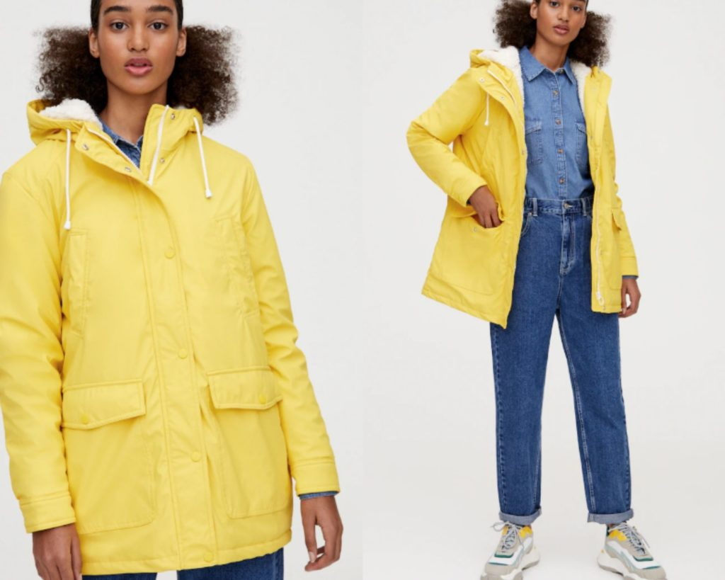 cappotto giallo di Pull&Bear