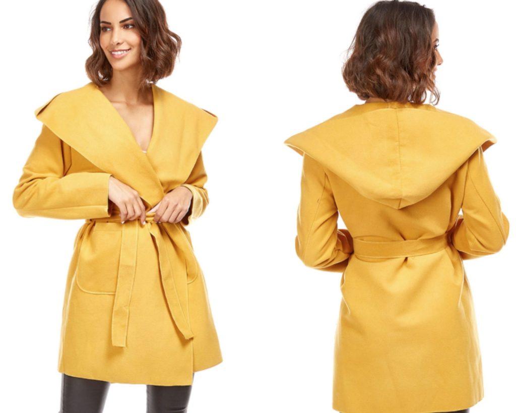 Cappotto corto giallo saldi