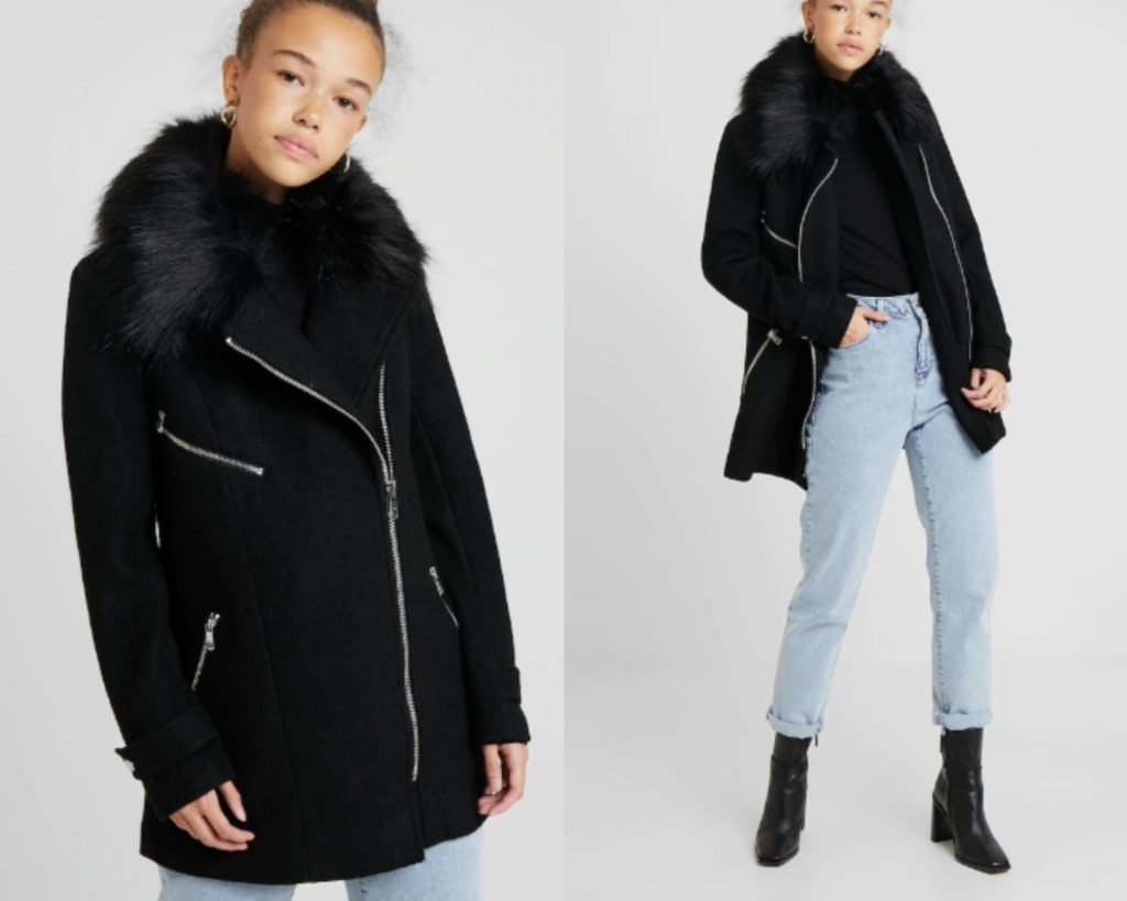 Cappotto corto donna nero Only