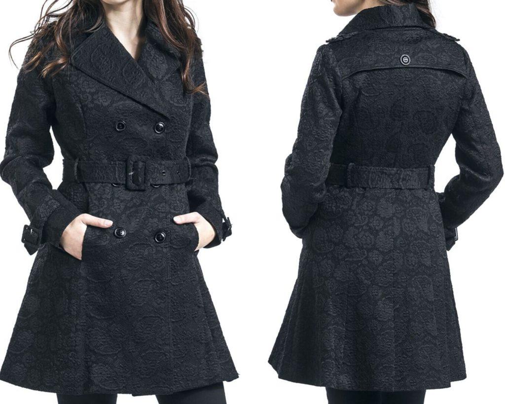 Cappotto nero corto donna Voodoo Vixen Susan Coat
