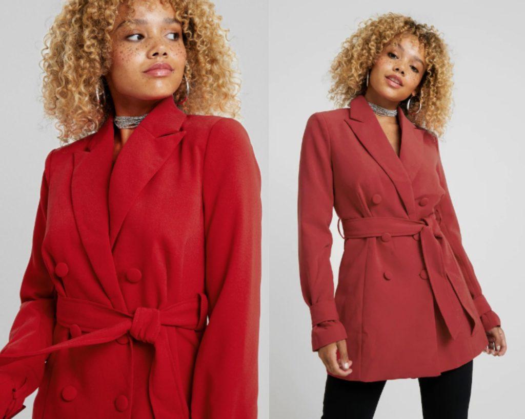Cappotto corto rosso