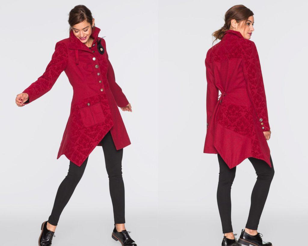 giacca rossa in lana Bonprix