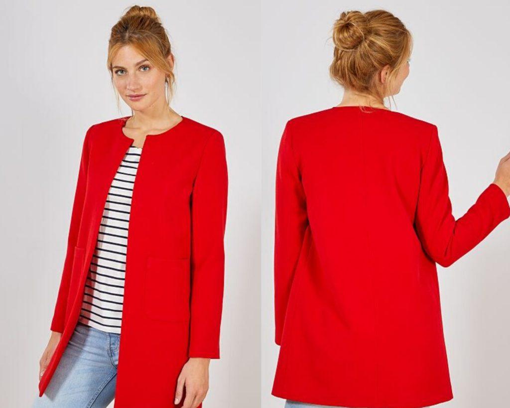 cappotto rosso Kiabi