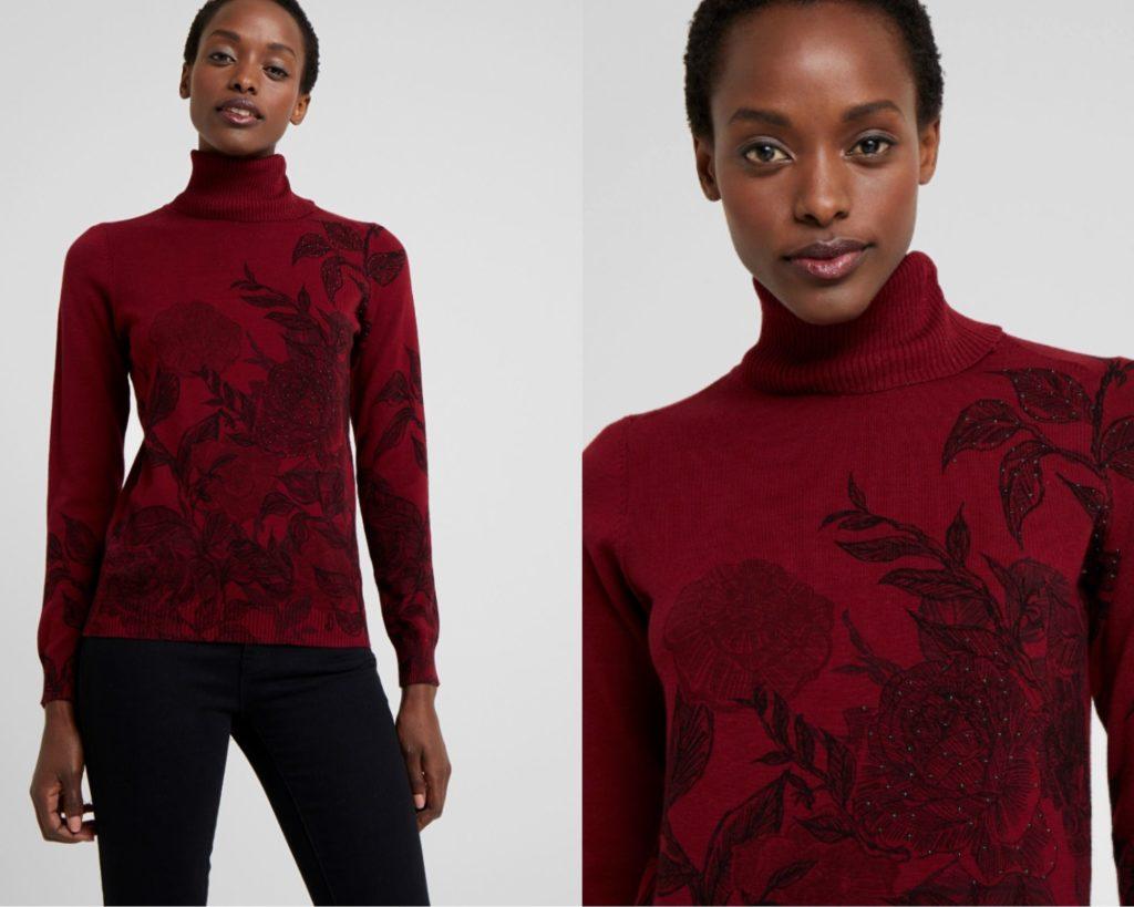 maglione rosso di Desigual