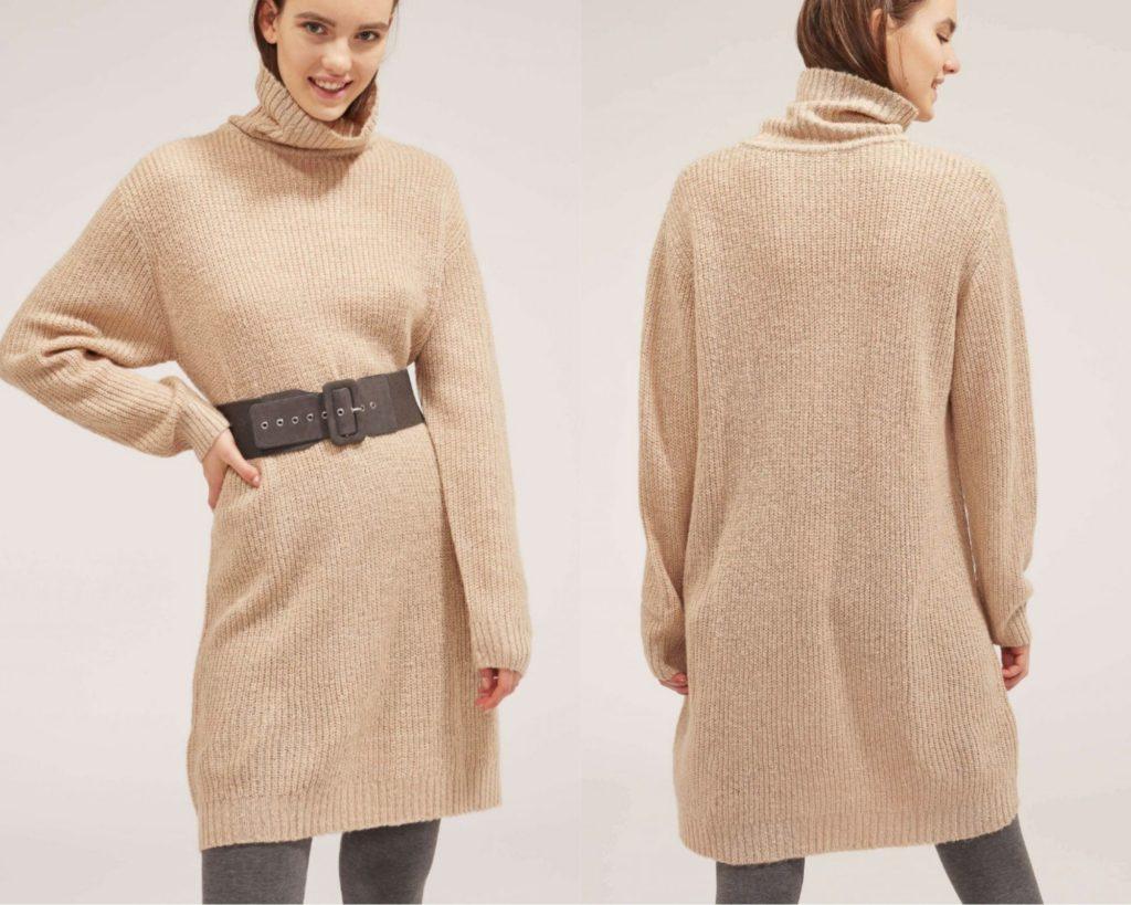 maglione a vestito color cammello di Terranova