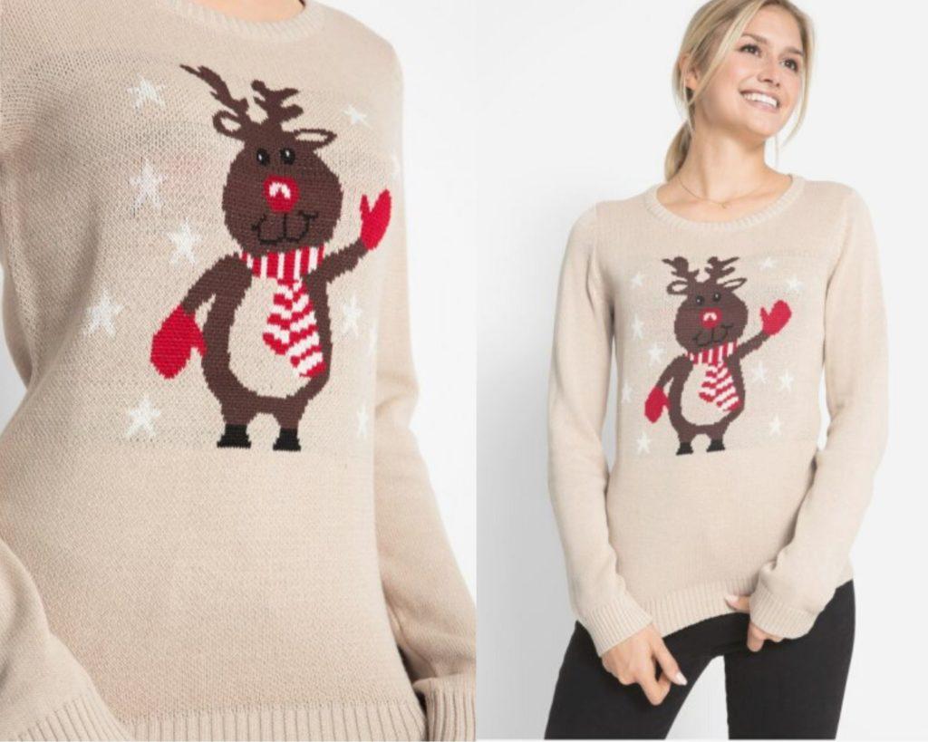 maglione color crema di Bonprix