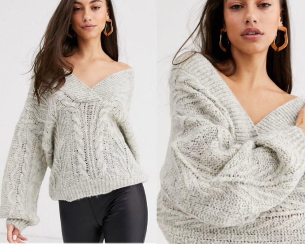 trecce è la protagonista anche di questo maglione Asos