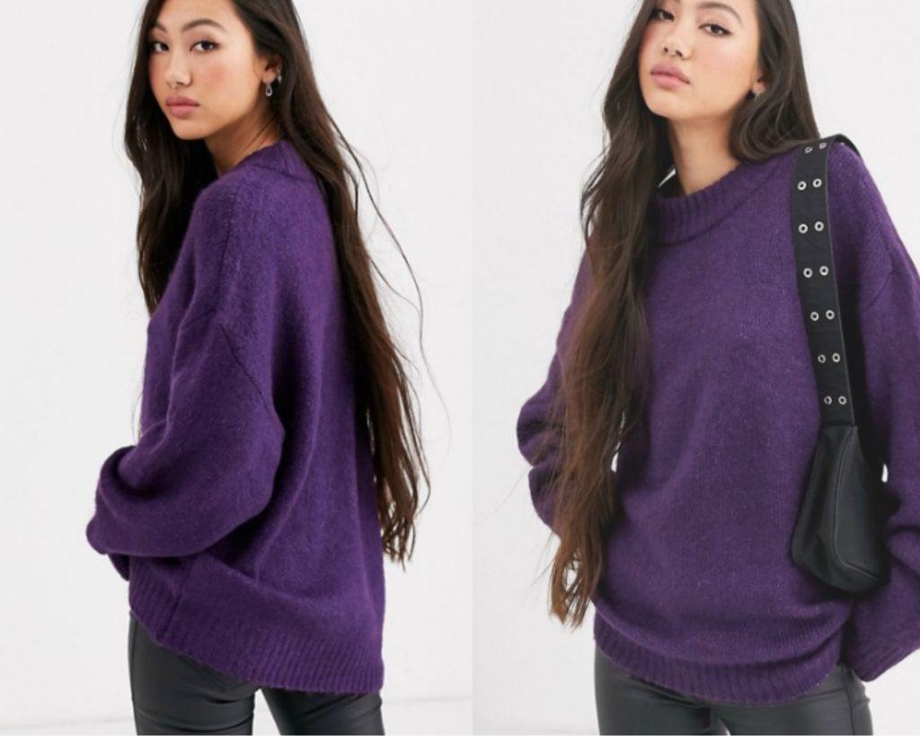 maglione viola oversize di Dr. Denim