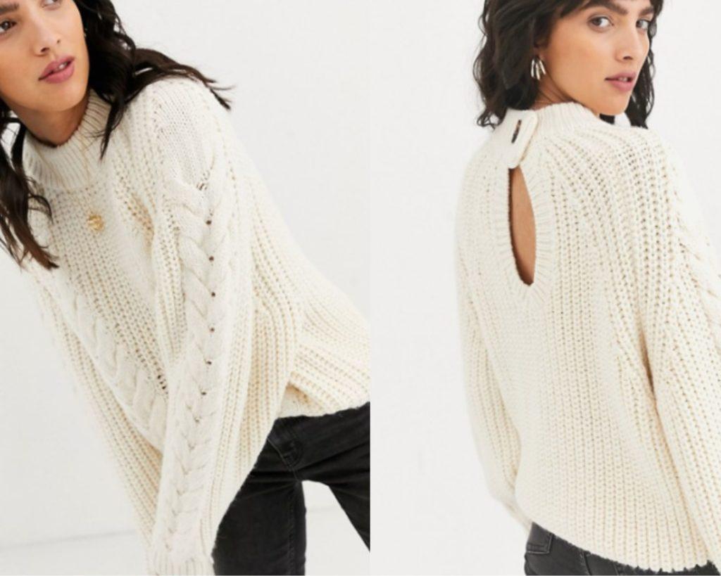 maglione a trecce asos 2020