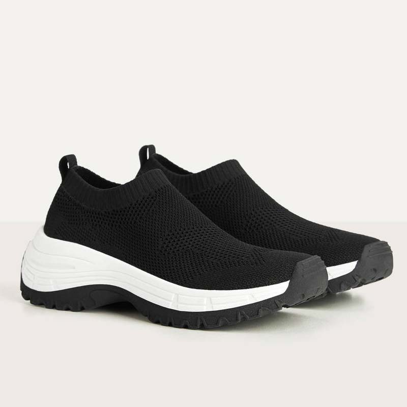 Sneakers stile calzino in rete