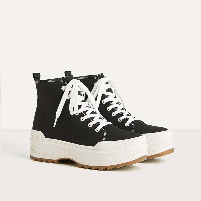 Sneakers Bershka  alte con plateau