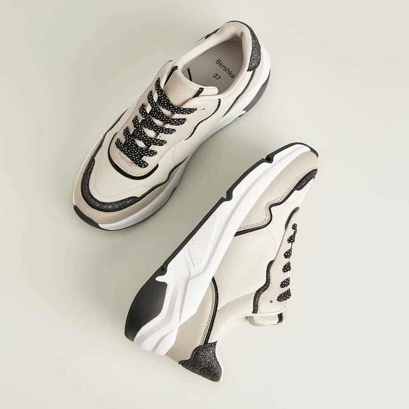 Scarpe Bershka Sneakers bicolore con glitter