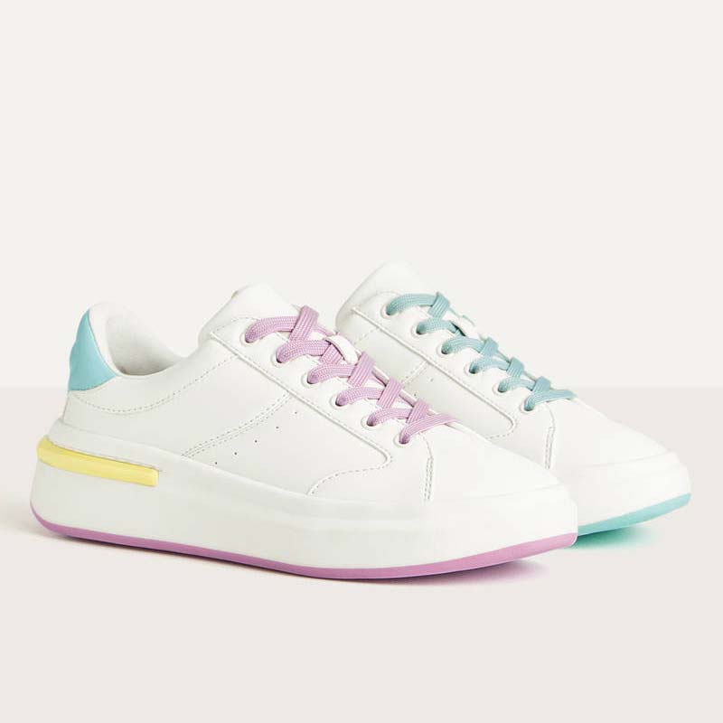 Sneakers Bershka combinate multicolore