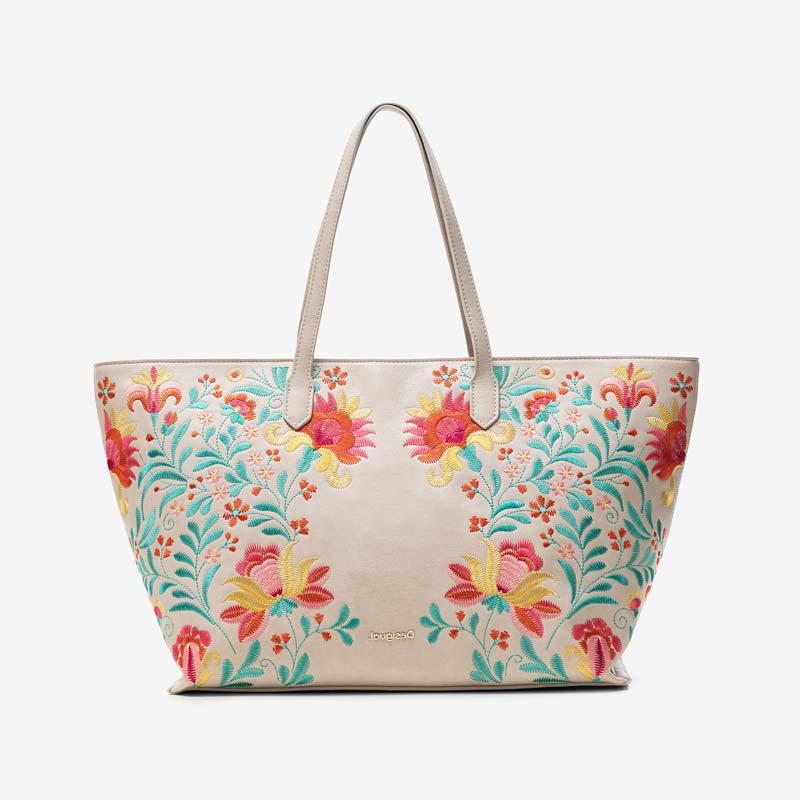 Desigual: Maxi borsa con stampa floreale