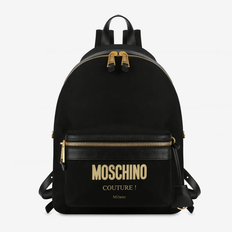 Zaino in nylon Moschino couture
