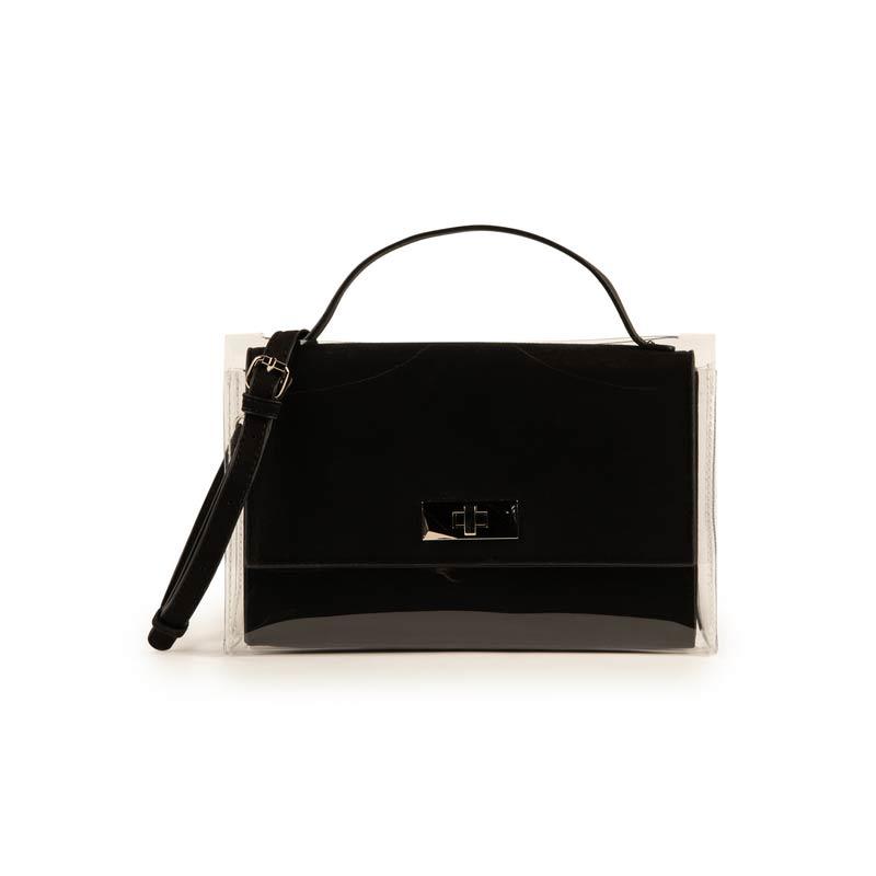 Minibag nera in microfibra e PVC