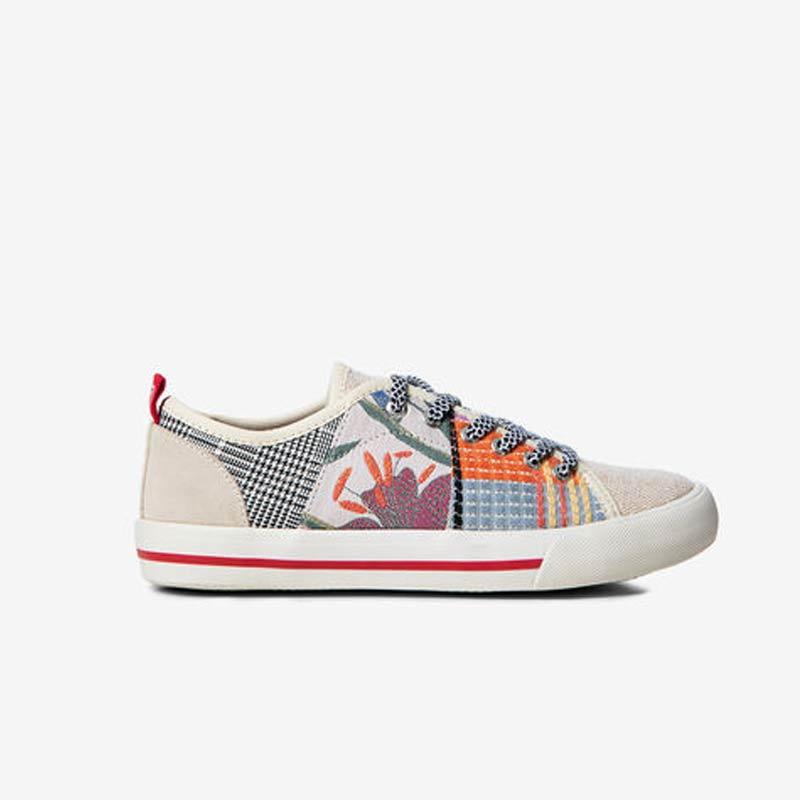 Sneaker Desigual patch di tessuti
