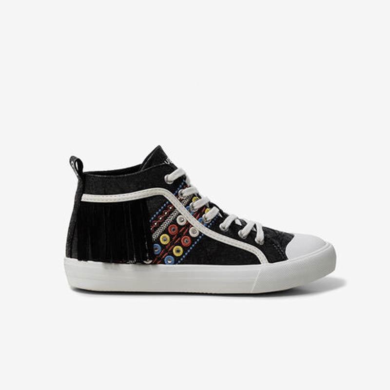 Sneaker Desigual alla caviglia con frange